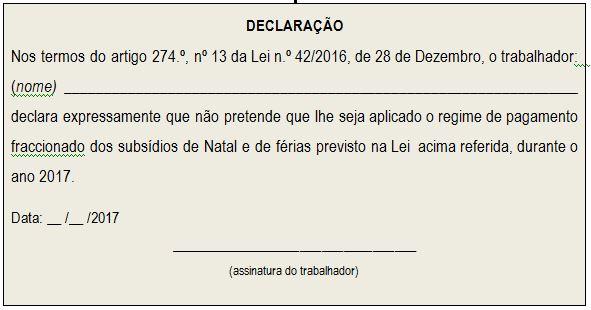 Declaração Duod 17
