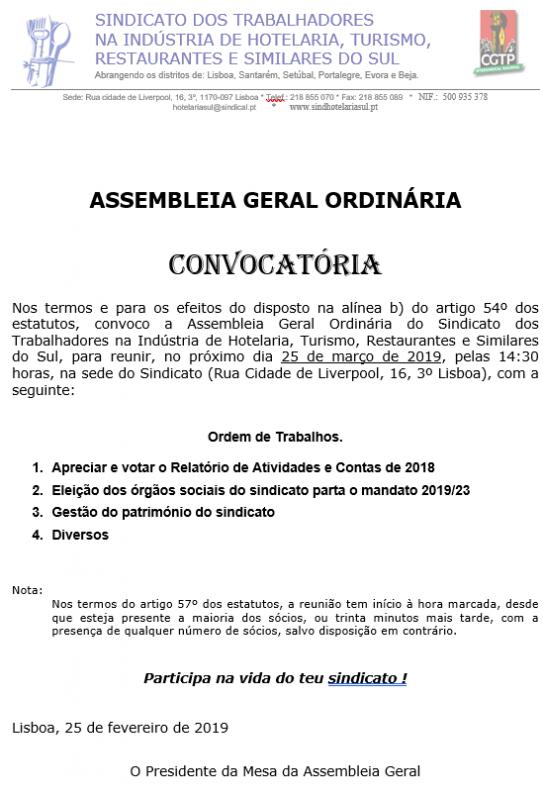 Assembleia Geral Mar19, Hot