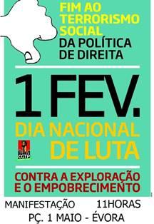 1 FEV. Évora - 11H Praça 1 Maio