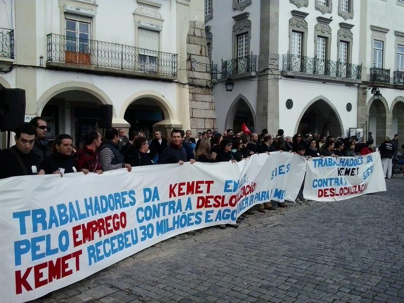16 Maio Concentração dos trabalhadores da KEMET às 20h30 na Praça do Giraldo