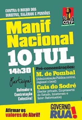 Manifestação 10 JUL. Lisboa net
