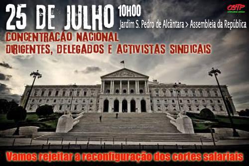 25 Julho Concentração Lisboa