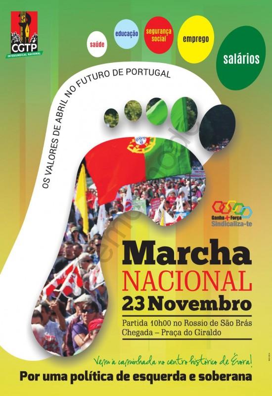 Cartaz marcha 23 Nov. Évora