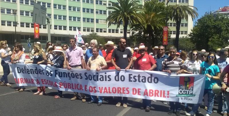Manifestação 18 Junho em Defesa da Escola Pública