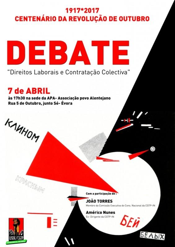 Centenário Revolução Outubro - cartaz Évora